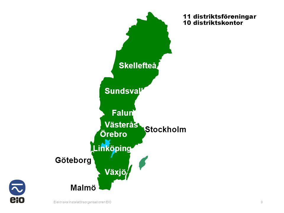 Skellefteå Sundsvall Falun Västerås Stockholm Örebro Linköping