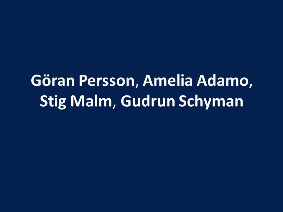 Göran Persson, Amelia Adamo, Stig Malm, Gudrun Schyman
