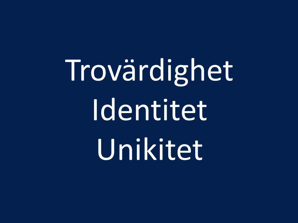 Trovärdighet Identitet Unikitet