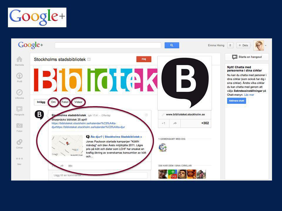 Google, som är världens största sökmotor, har observerat FB:s framgång och för att ta upp kampen med FB har man startat Google+. Google+ har Lanserades 2011. ca 170 miljoner användare.