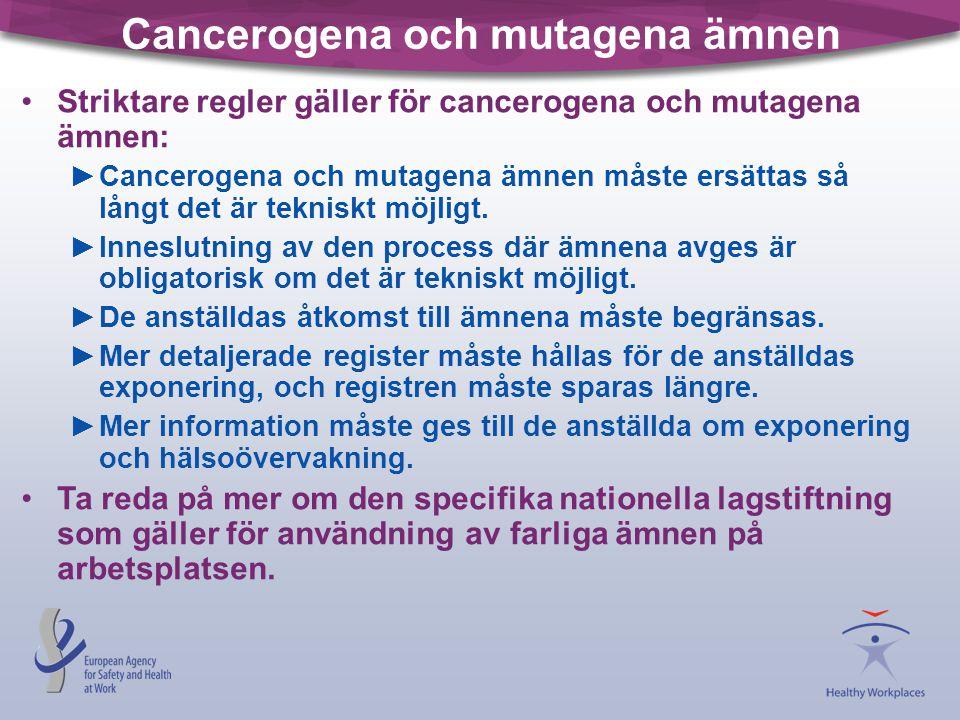 Cancerogena och mutagena ämnen