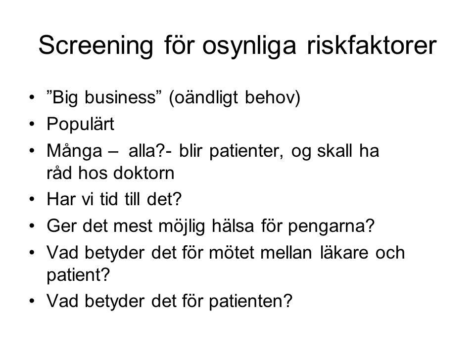 Screening för osynliga riskfaktorer
