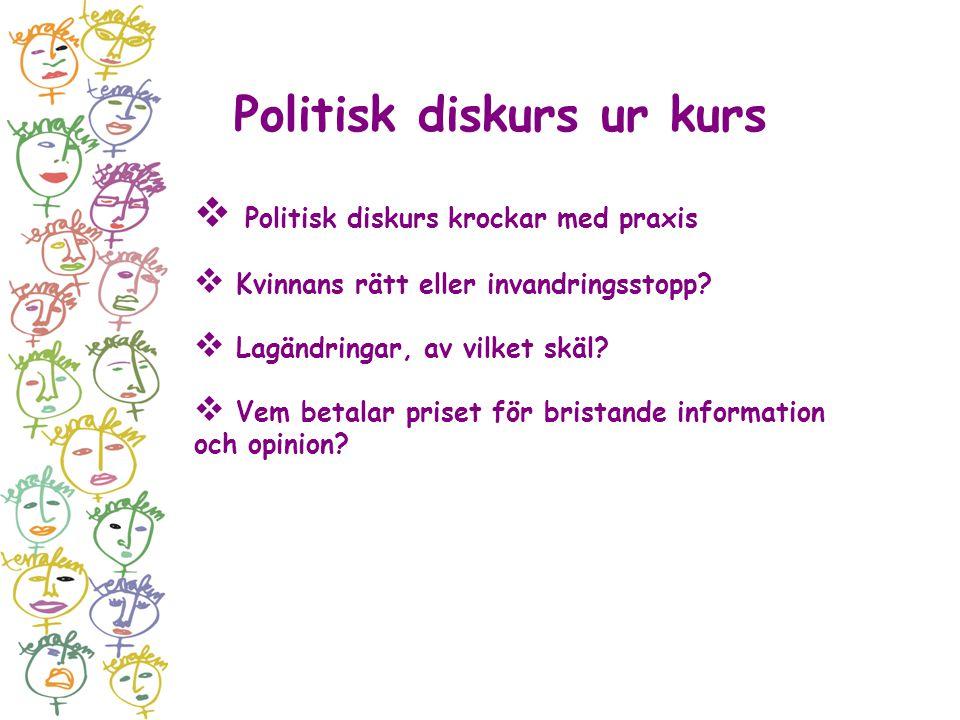 Politisk diskurs ur kurs