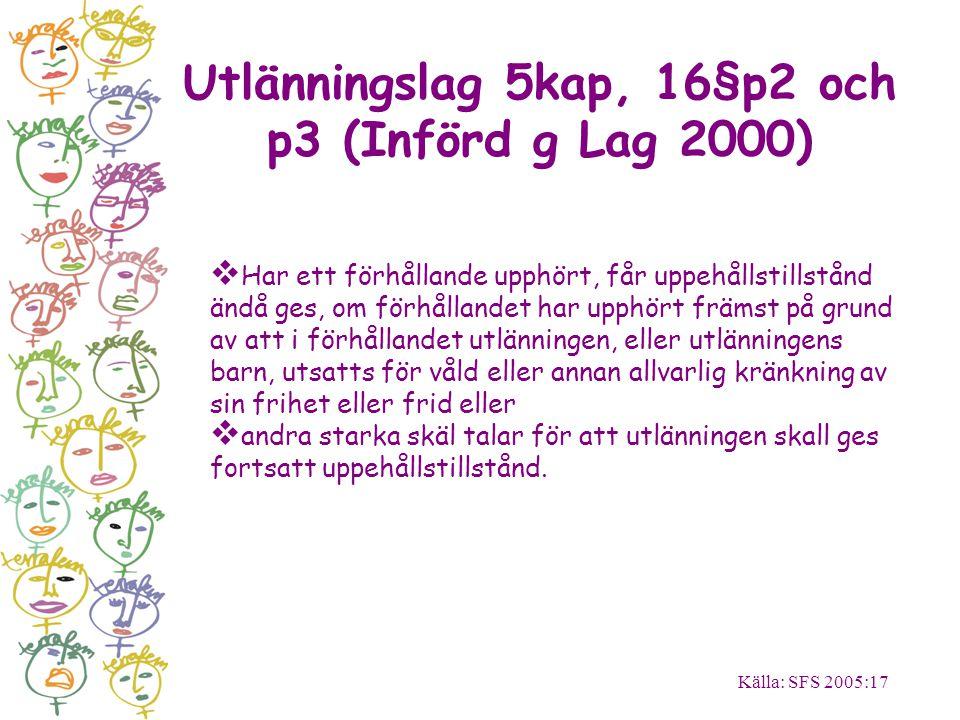 Utlänningslag 5kap, 16§p2 och p3 (Införd g Lag 2000)