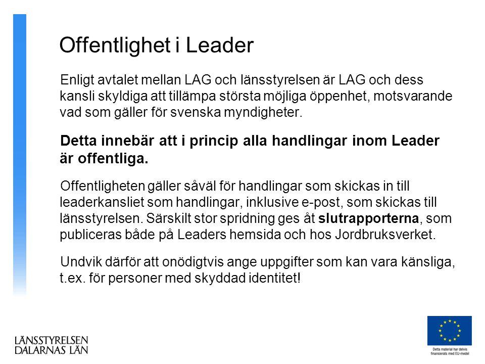 Offentlighet i Leader