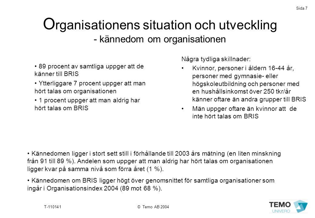Organisationens situation och utveckling