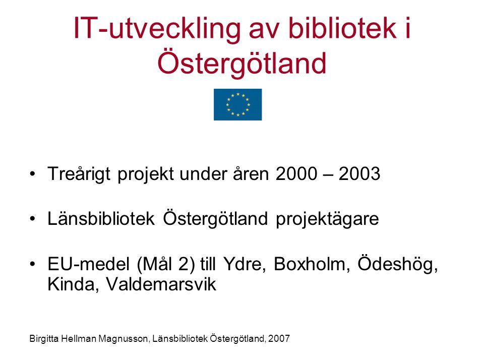IT-utveckling av bibliotek i Östergötland