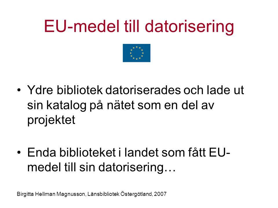 EU-medel till datorisering