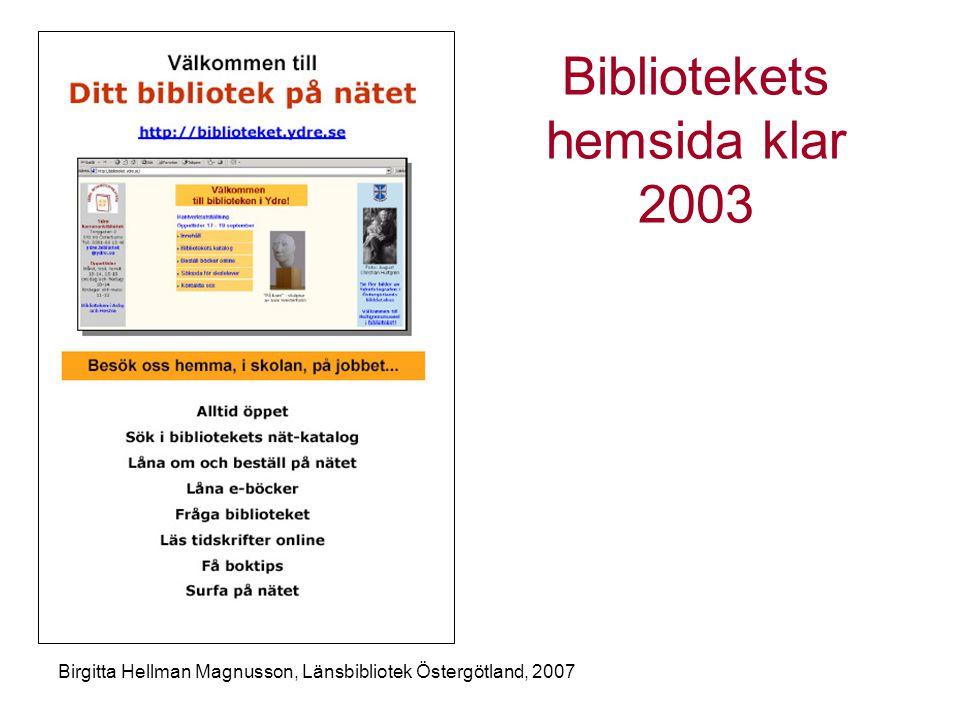 Bibliotekets hemsida klar 2003