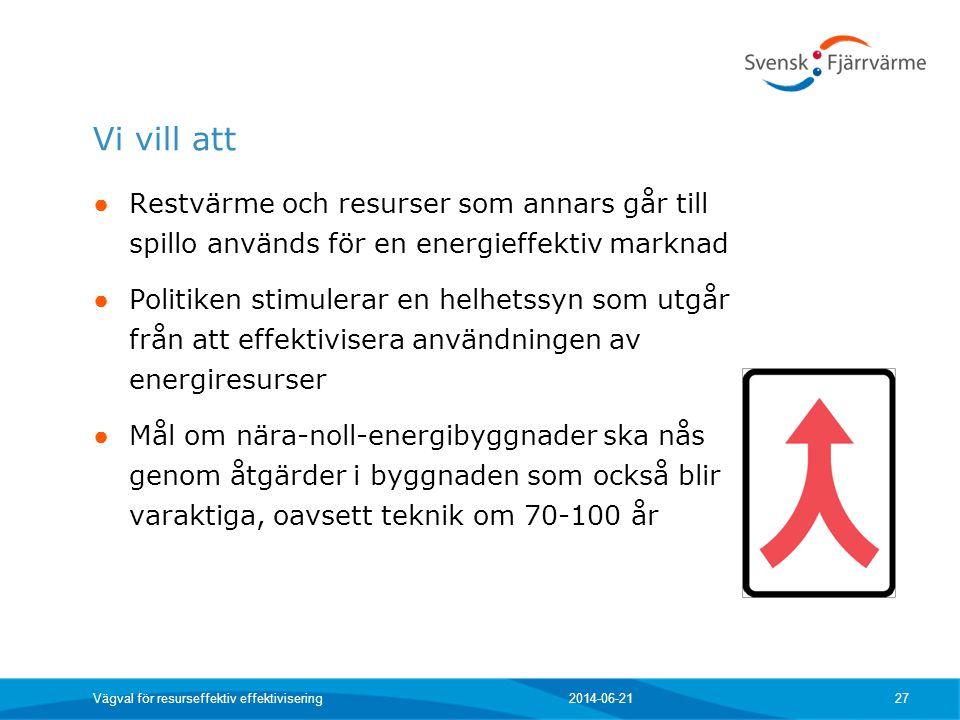 Vi vill att Restvärme och resurser som annars går till spillo används för en energieffektiv marknad.