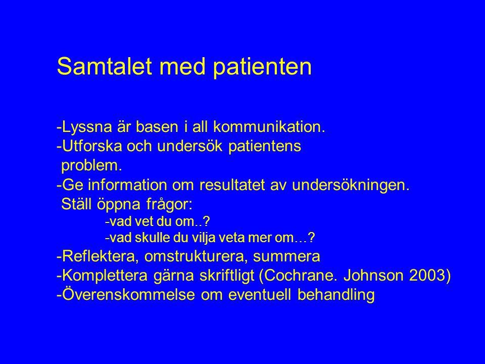 Samtalet med patienten