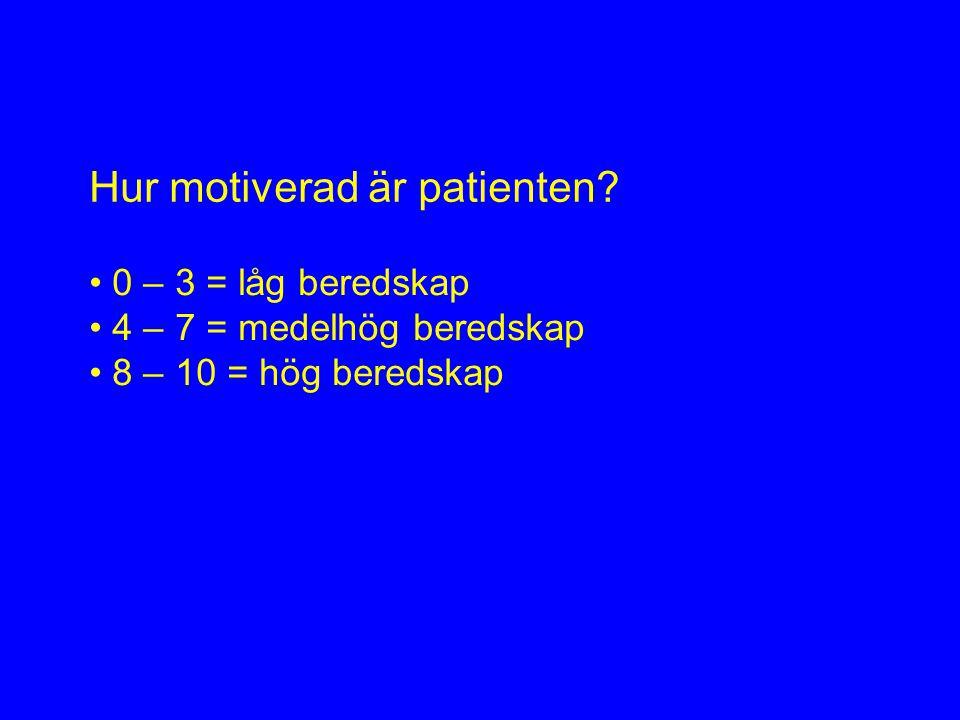 Hur motiverad är patienten