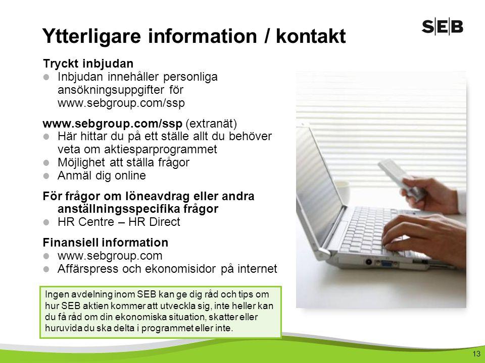Ytterligare information / kontakt