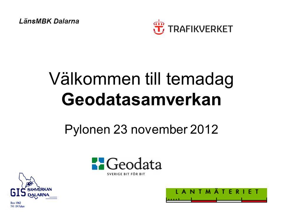 Välkommen till temadag Geodatasamverkan