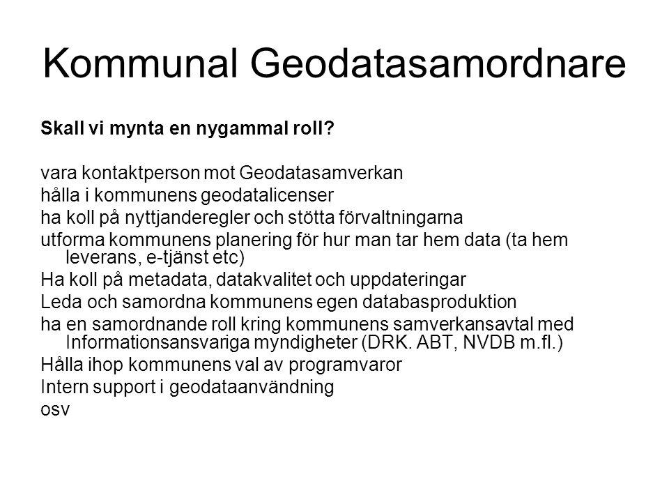 Kommunal Geodatasamordnare