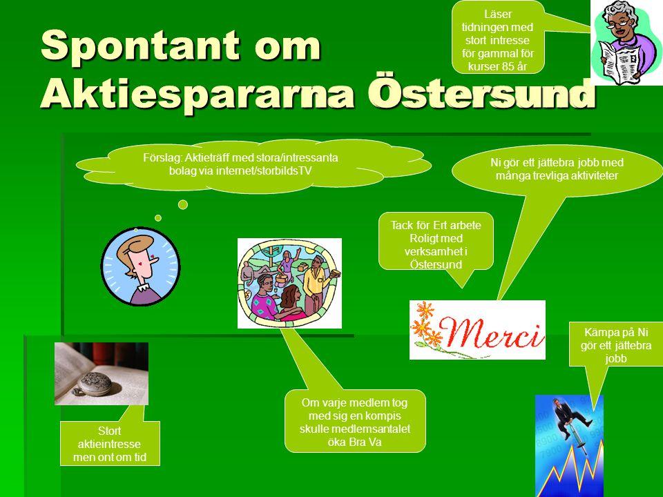 Spontant om Aktiespararna Östersund