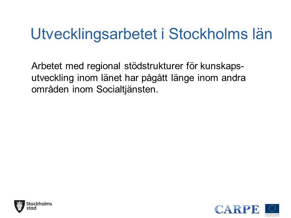 Utvecklingsarbetet i Stockholms län