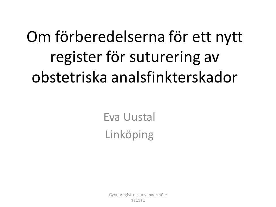 Gynopregistrets användarmöte 111111