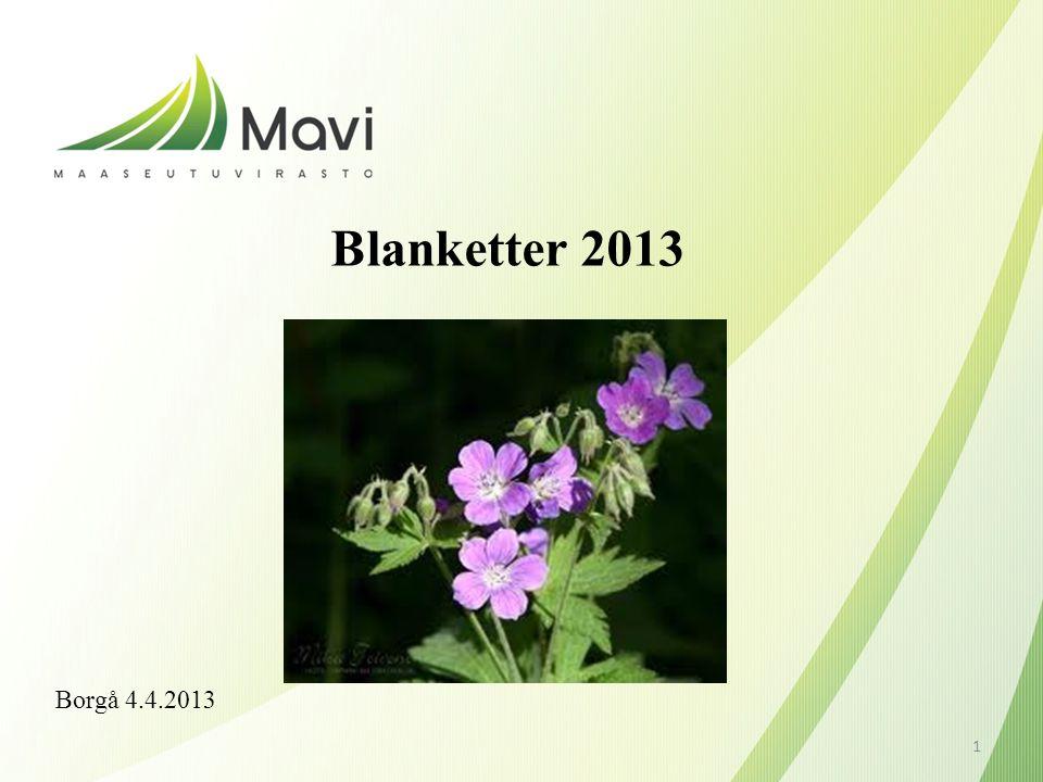 Blanketter 2013 Borgå 4.4.2013