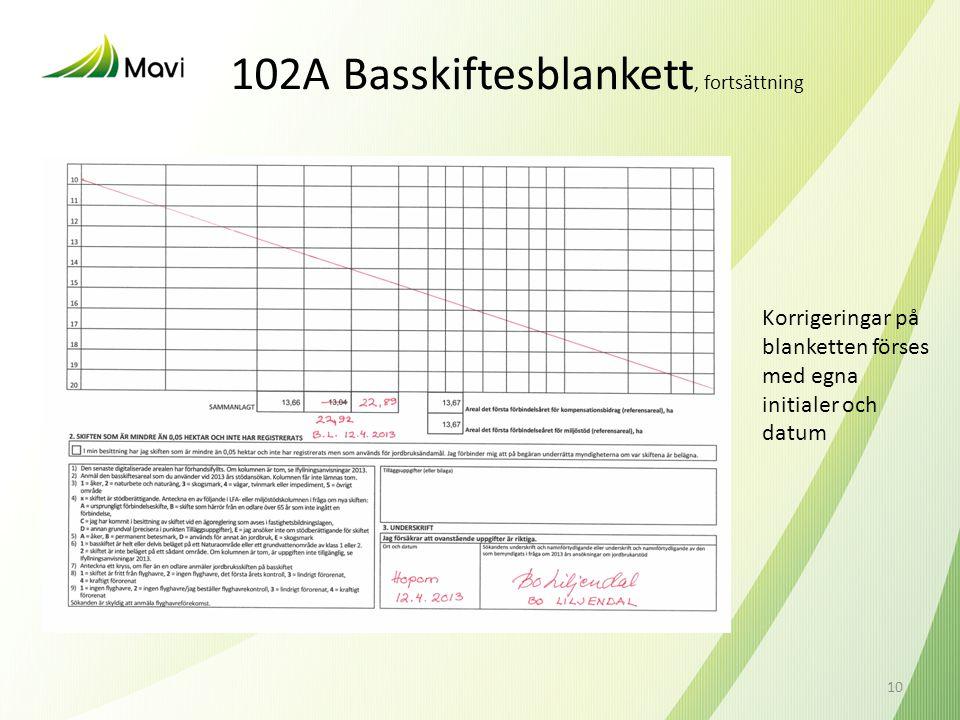102A Basskiftesblankett, fortsättning