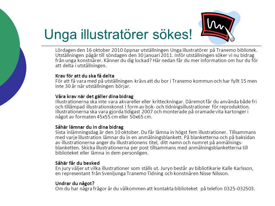 Unga illustratörer sökes!