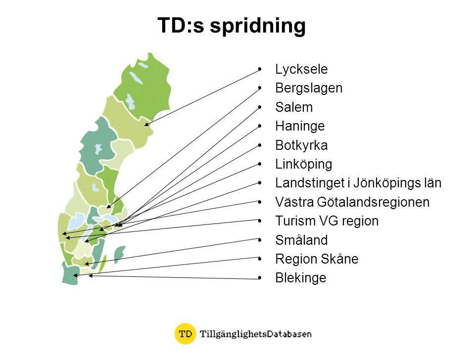 TD:s spridning Lycksele Bergslagen Salem Haninge Botkyrka Linköping