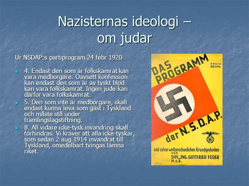 Nazisternas ideologi – om judar