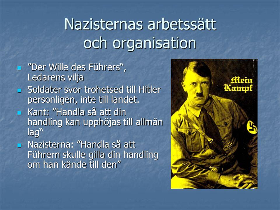 Nazisternas arbetssätt och organisation