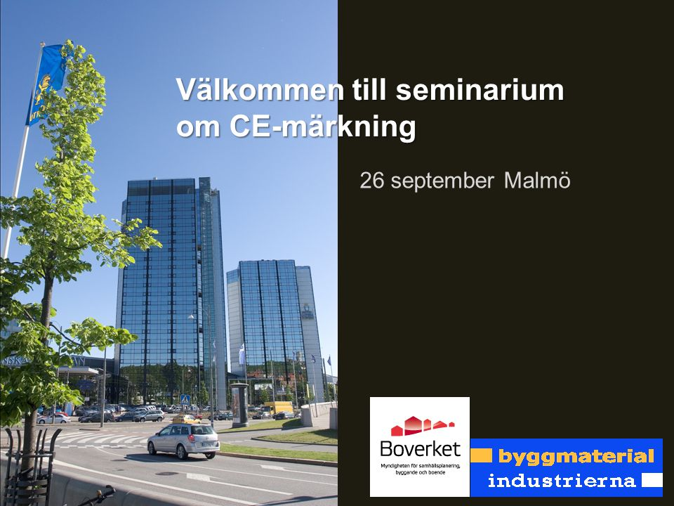 Välkommen till seminarium om CE-märkning