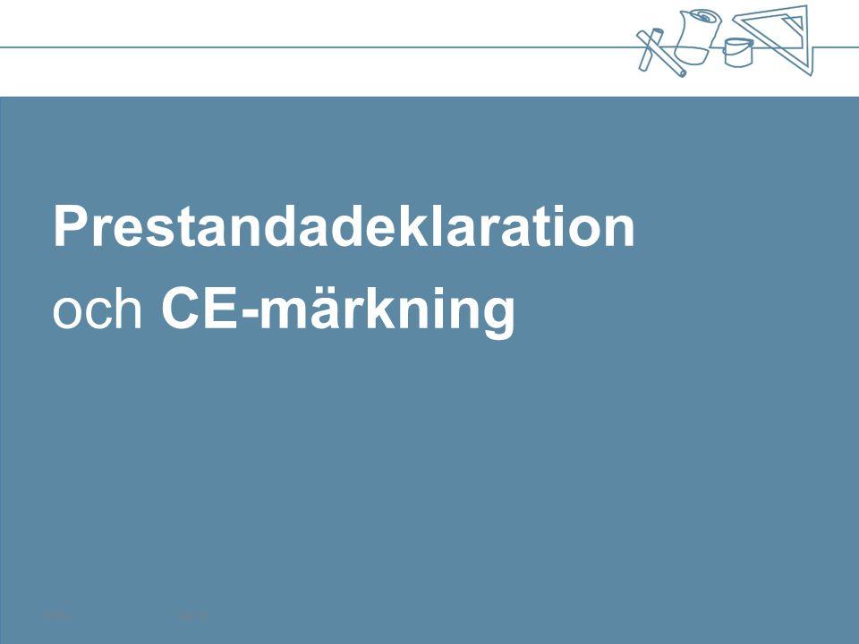 Prestandadeklaration och CE-märkning