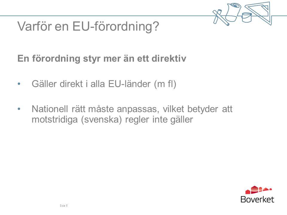 Varför en EU-förordning