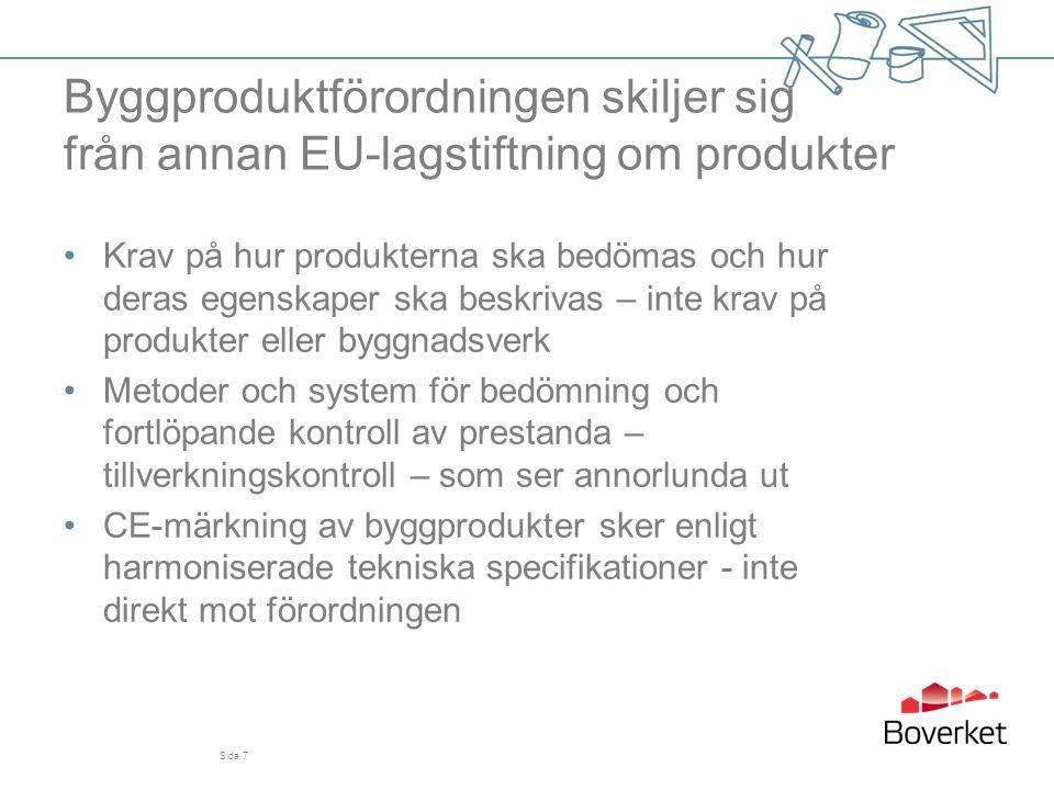 Byggproduktförordningen skiljer sig från annan EU-lagstiftning om produkter