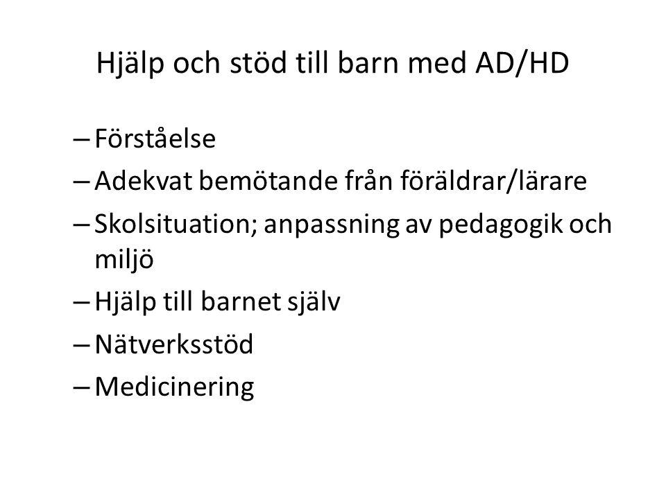 Hjälp och stöd till barn med AD/HD