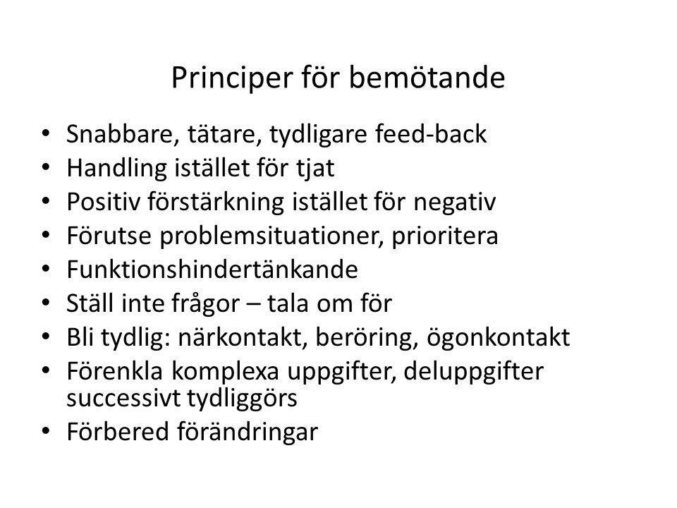 Principer för bemötande