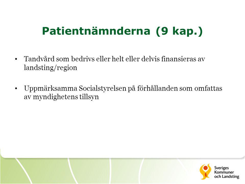 Patientnämnderna (9 kap.)
