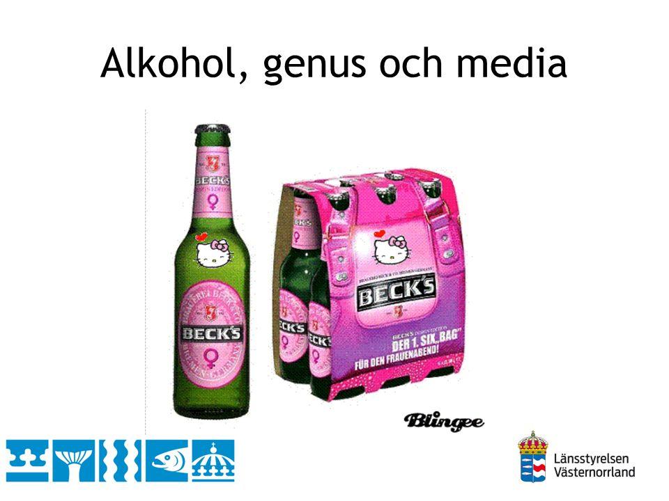 Alkohol, genus och media