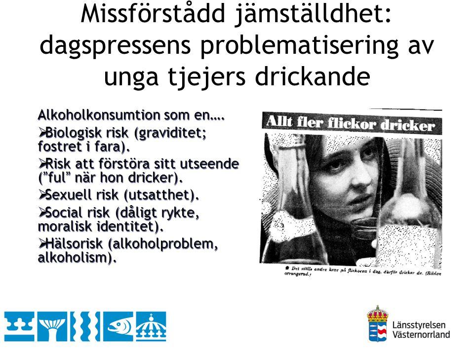 Missförstådd jämställdhet: dagspressens problematisering av unga tjejers drickande