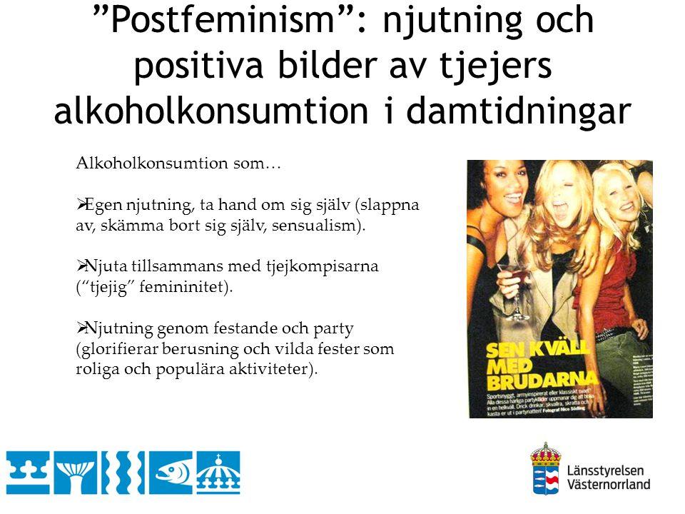 Postfeminism : njutning och positiva bilder av tjejers alkoholkonsumtion i damtidningar