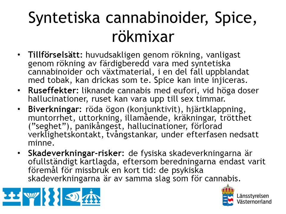 Syntetiska cannabinoider, Spice, rökmixar
