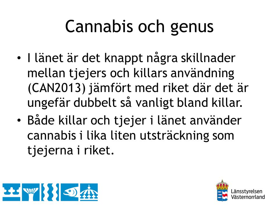 Cannabis och genus