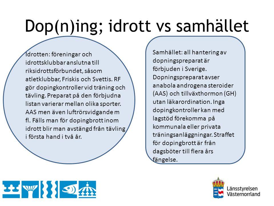 Dop(n)ing; idrott vs samhället