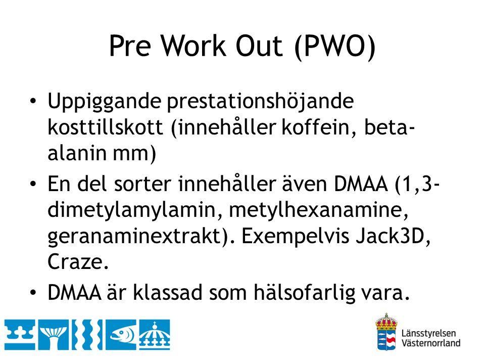 Pre Work Out (PWO) Uppiggande prestationshöjande kosttillskott (innehåller koffein, beta-alanin mm)