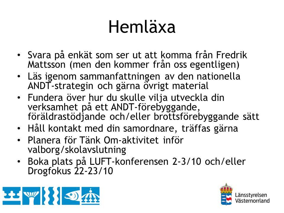Hemläxa Svara på enkät som ser ut att komma från Fredrik Mattsson (men den kommer från oss egentligen)