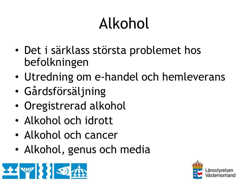 Alkohol Det i särklass största problemet hos befolkningen