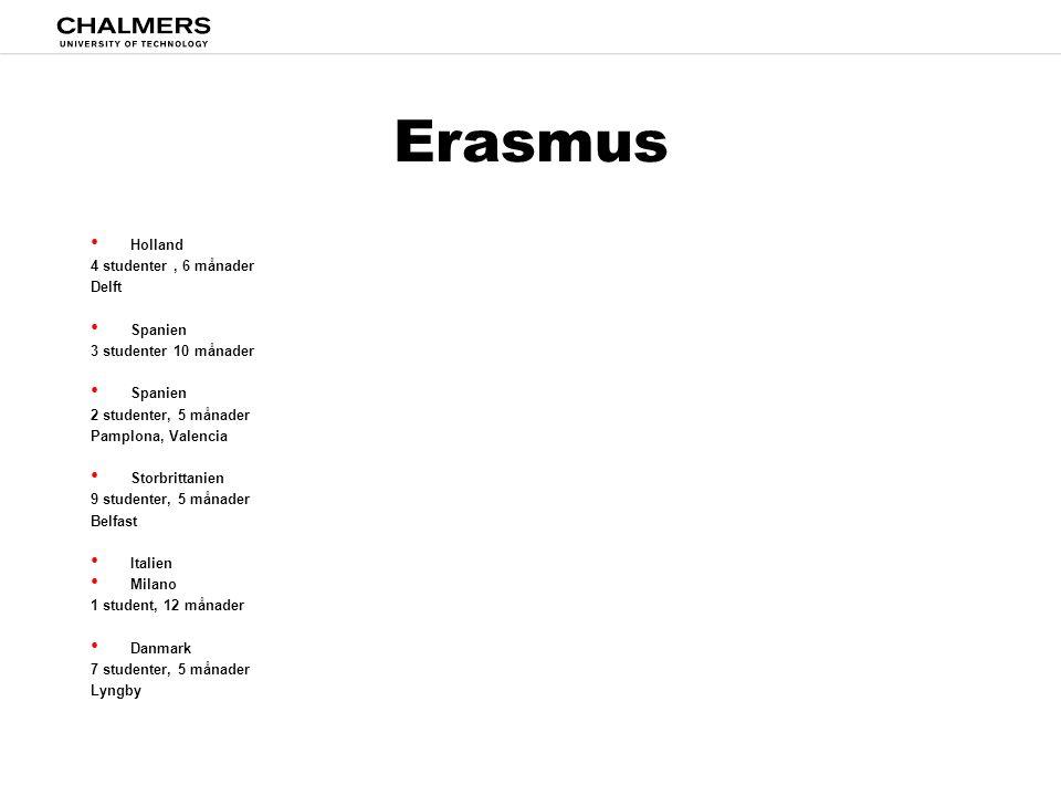 Erasmus Holland 4 studenter , 6 månader Delft Spanien