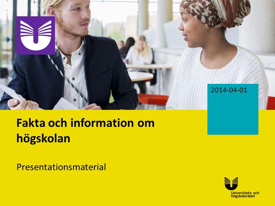 Fakta och information om högskolan