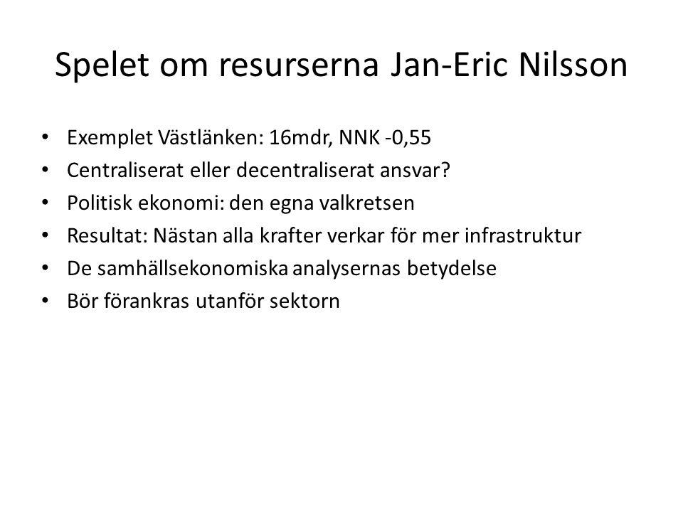 Spelet om resurserna Jan-Eric Nilsson