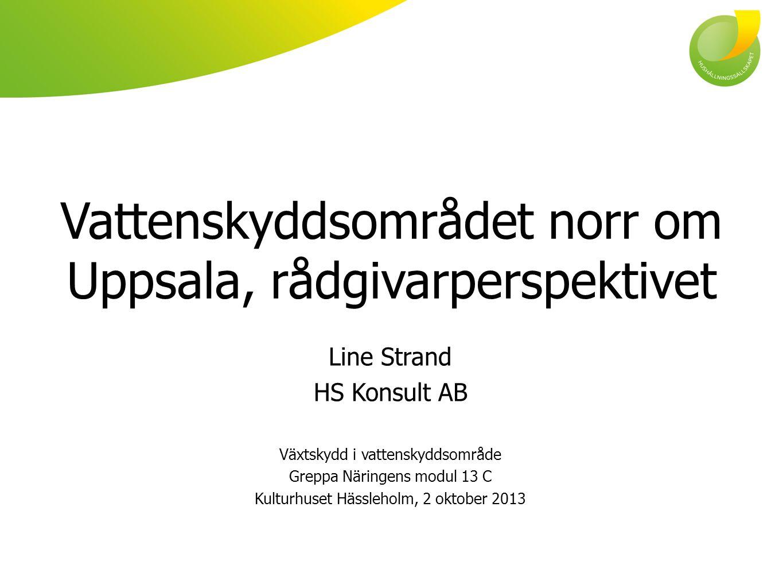 Vattenskyddsområdet norr om Uppsala, rådgivarperspektivet