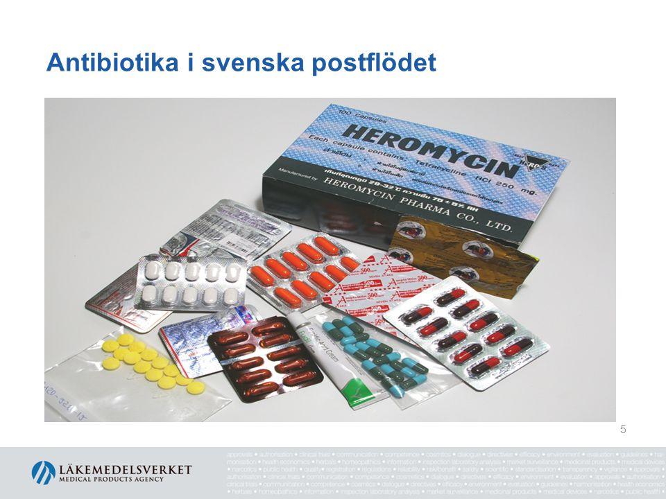 Antibiotika i svenska postflödet