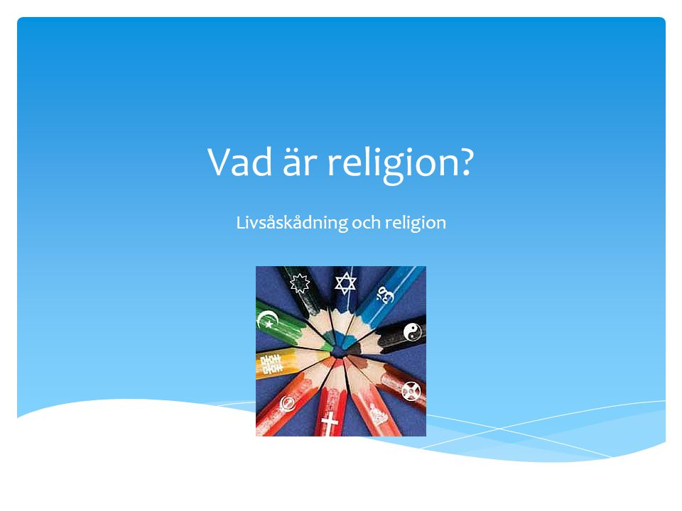 Livsåskådning och religion